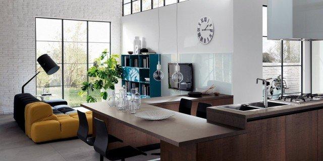 Cucina e soggiorno in un open space