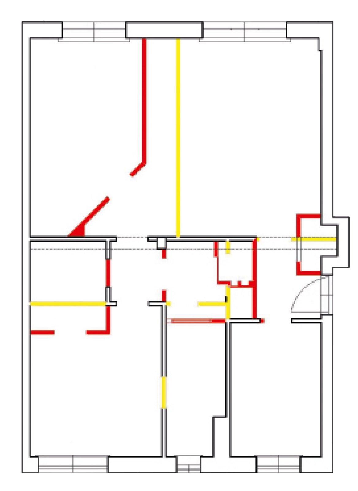 In 80 mq soggiorno pi ampio prima soluzione cose di casa - Porta finestra in pianta ...
