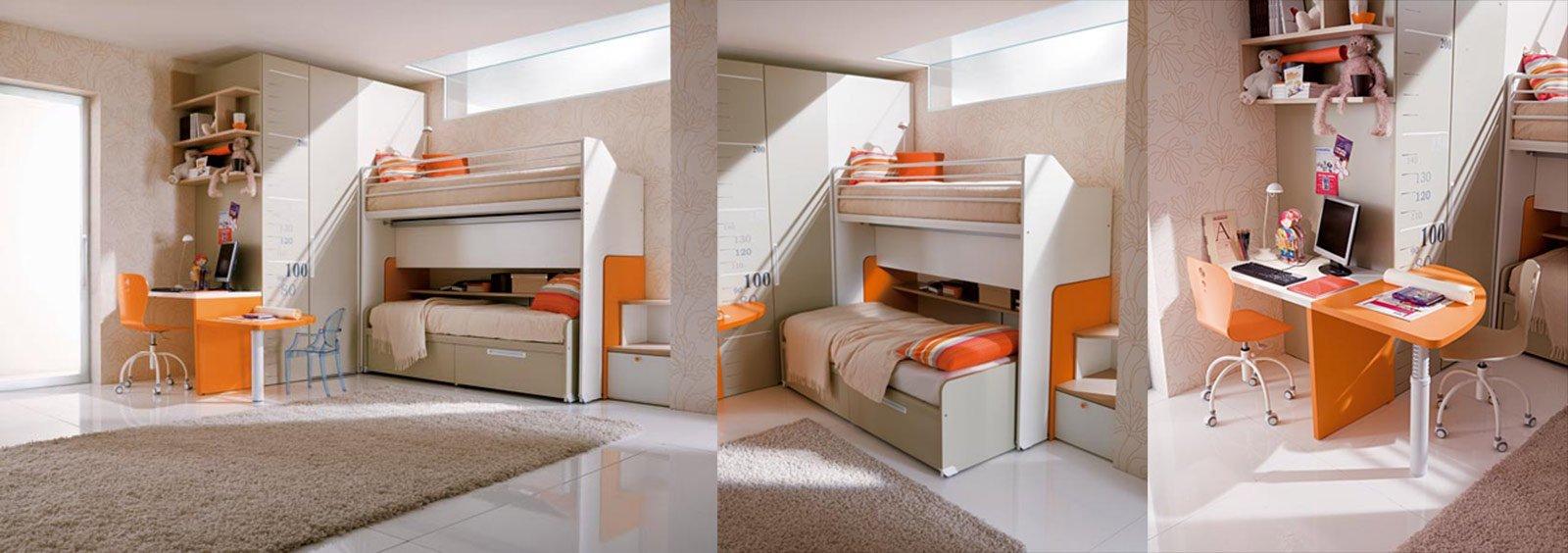 Camerette salvaspazio cose di casa for 6 piani di casa colonica di 6 camere da letto