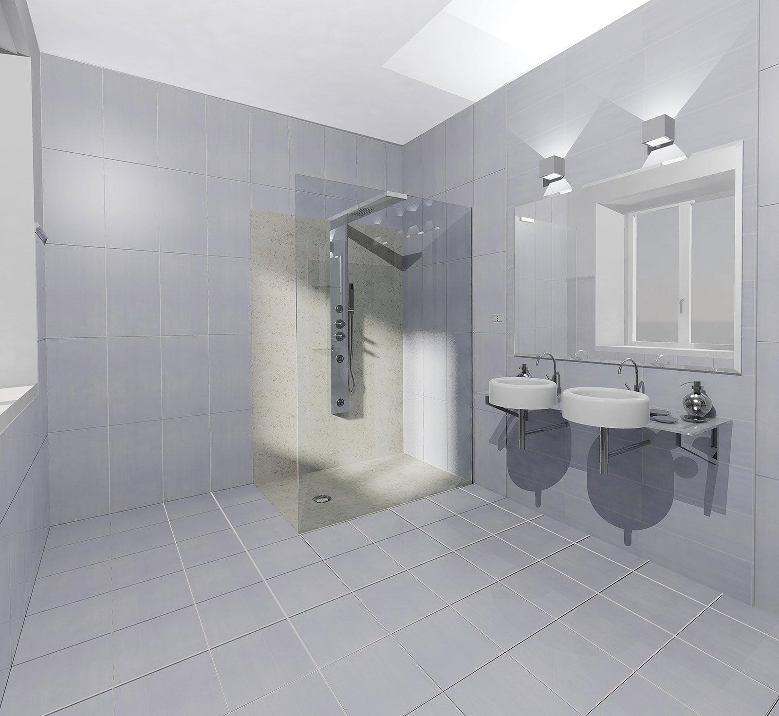 Scegliere i rivestimenti per pareti e pavimenti cose di casa - Bagni con doccia a pavimento ...