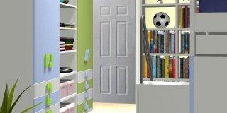 Come dividere la camera dei ragazzi in due parti indipendenti?