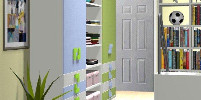 Come dividere la camera dei ragazzi in due parti - La camera dei bambini ...