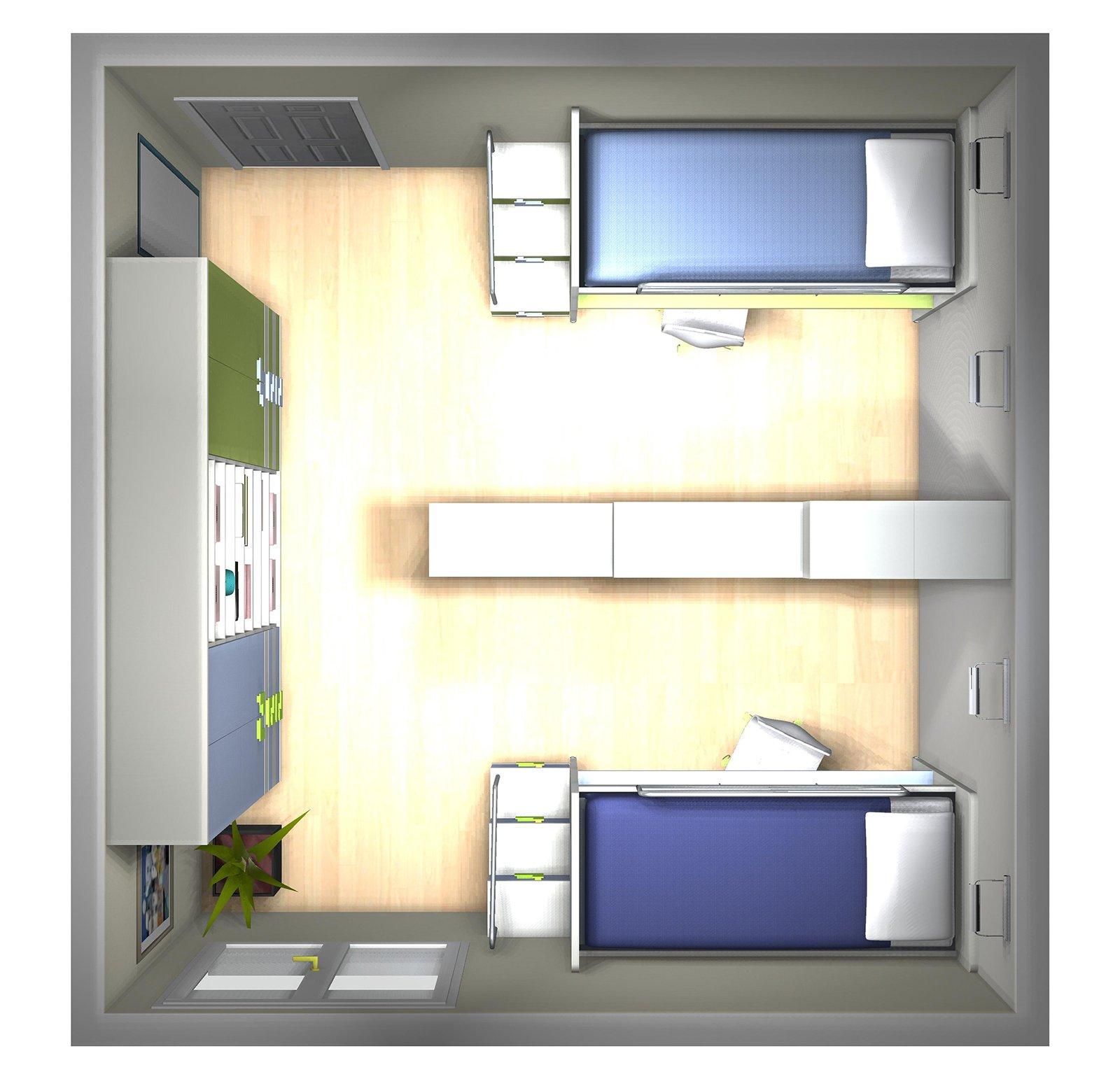 Come dividere la camera dei ragazzi in due parti - Divisione camera da letto ...