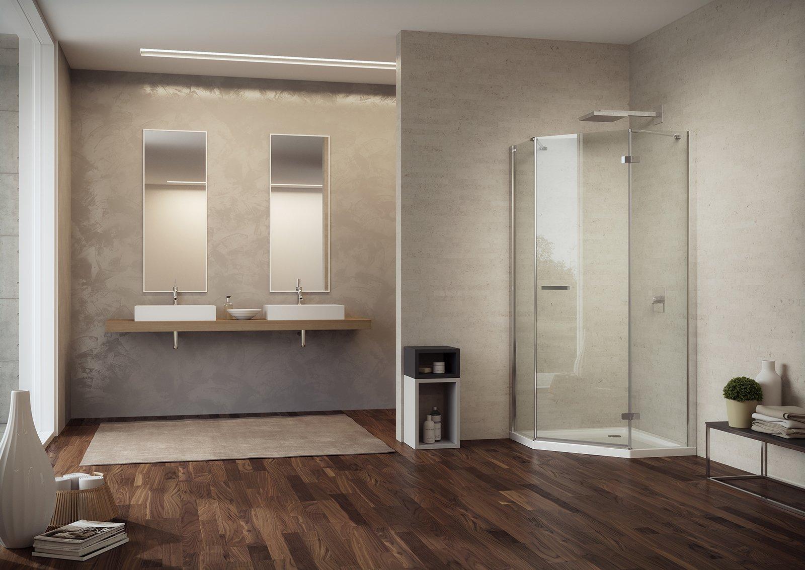 Box doccia quale chiusura scegliere cose di casa - Box doccia pentagonale ...