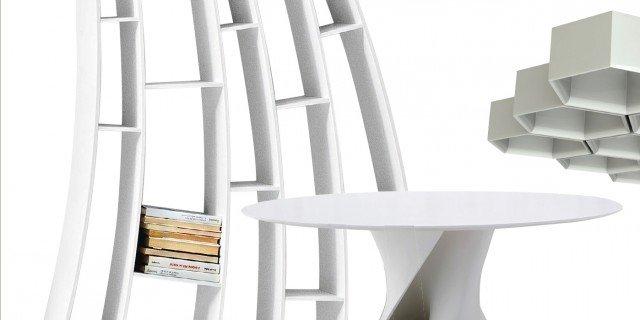 Design: zona pranzo in bianco