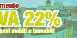 Aumento Iva 22% su beni mobili e immobili