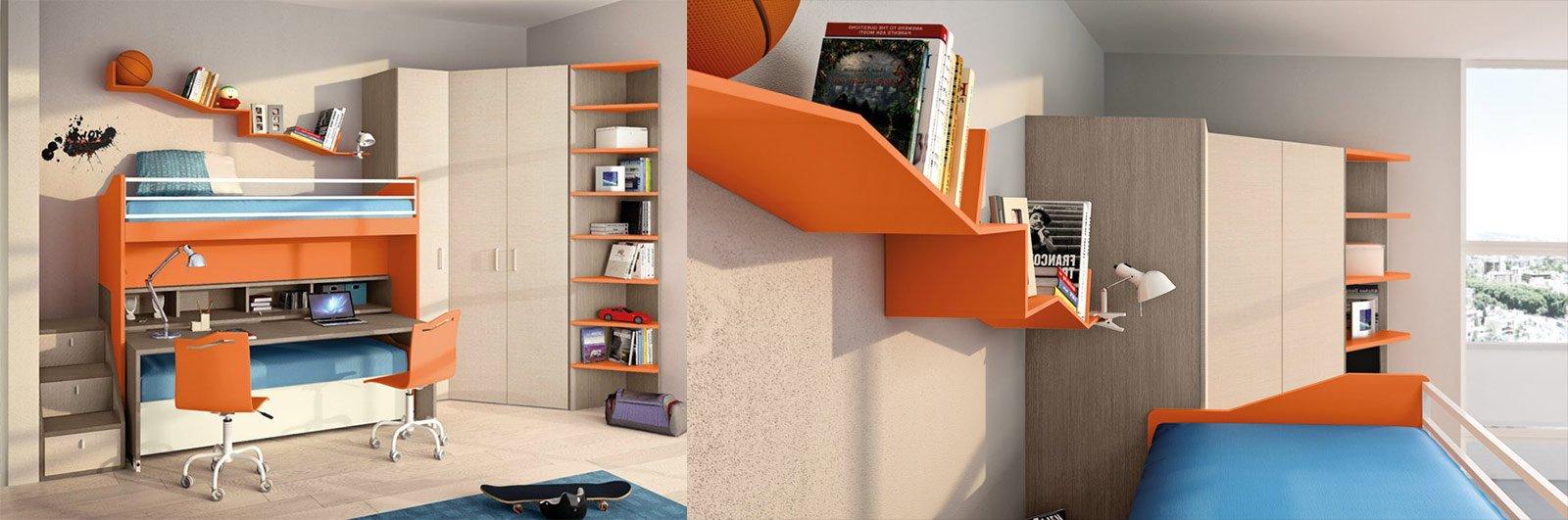 Camerette salvaspazio cose di casa for Cabina a 2 piani