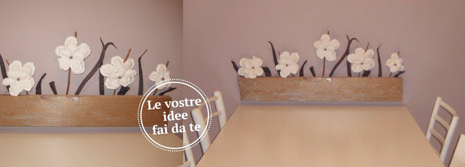 Decorare la parete con un vaso di fiori - Cose di Casa