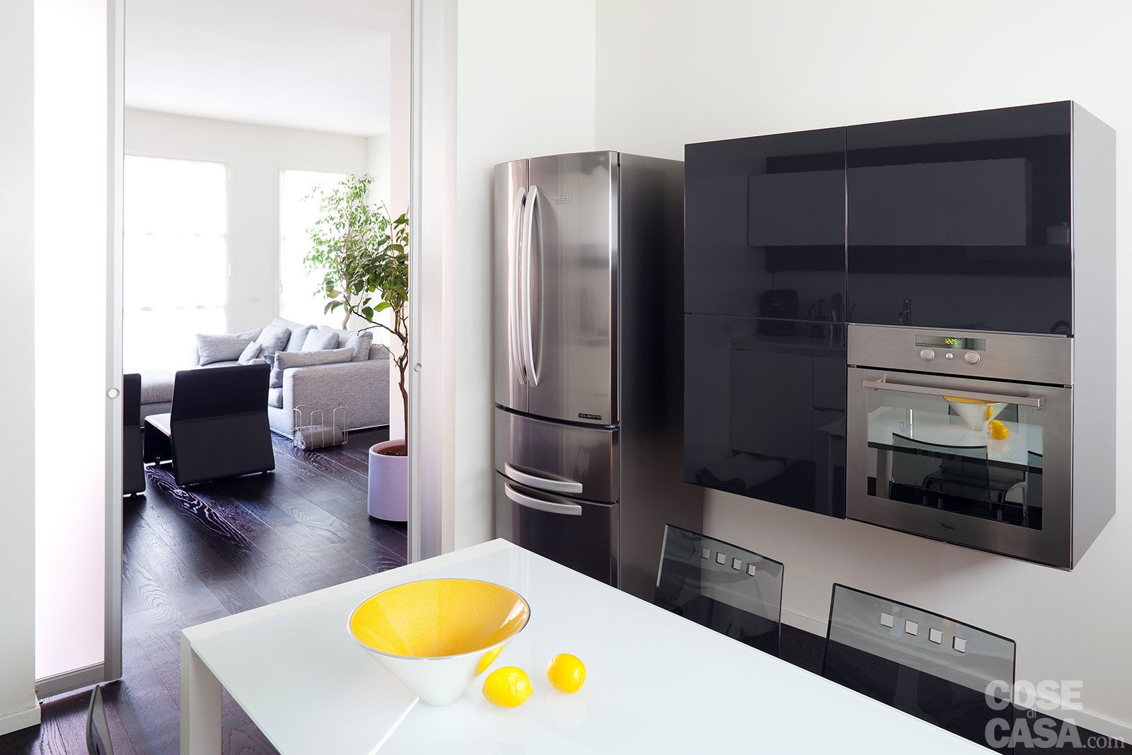 Una casa ristrutturata puntando sull 39 efficienza energetica - Cucine componibili senza frigo ...