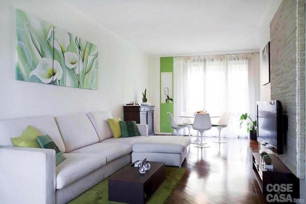 arredamento salotto verde ~ design casa creativa e mobili ispiratori - Come Arredare Un Soggiorno Rettangolare