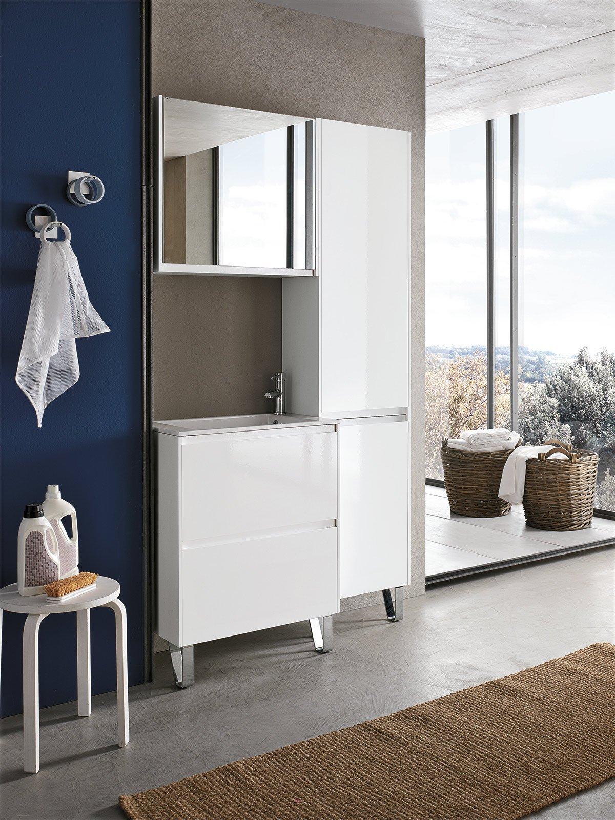 Colonne bagno moderne mobile colonna da bagno moderno con - Colonna bagno mondo convenienza ...