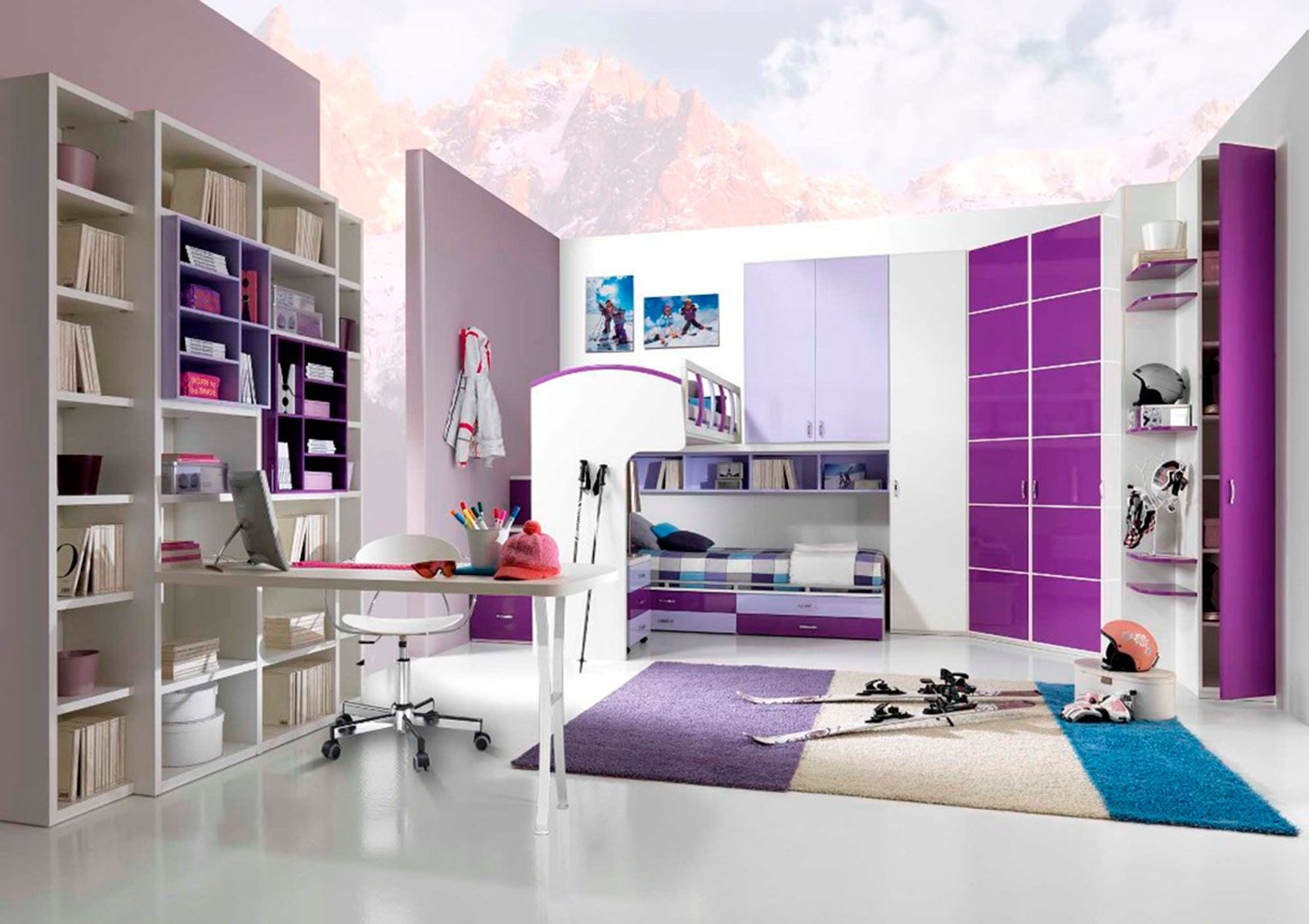 Camerette salvaspazio cose di casa - Super cute teenage girls room ...