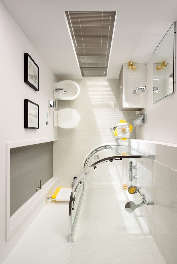 bagno piccolo soluzioni piccole cose di casa. Black Bedroom Furniture Sets. Home Design Ideas