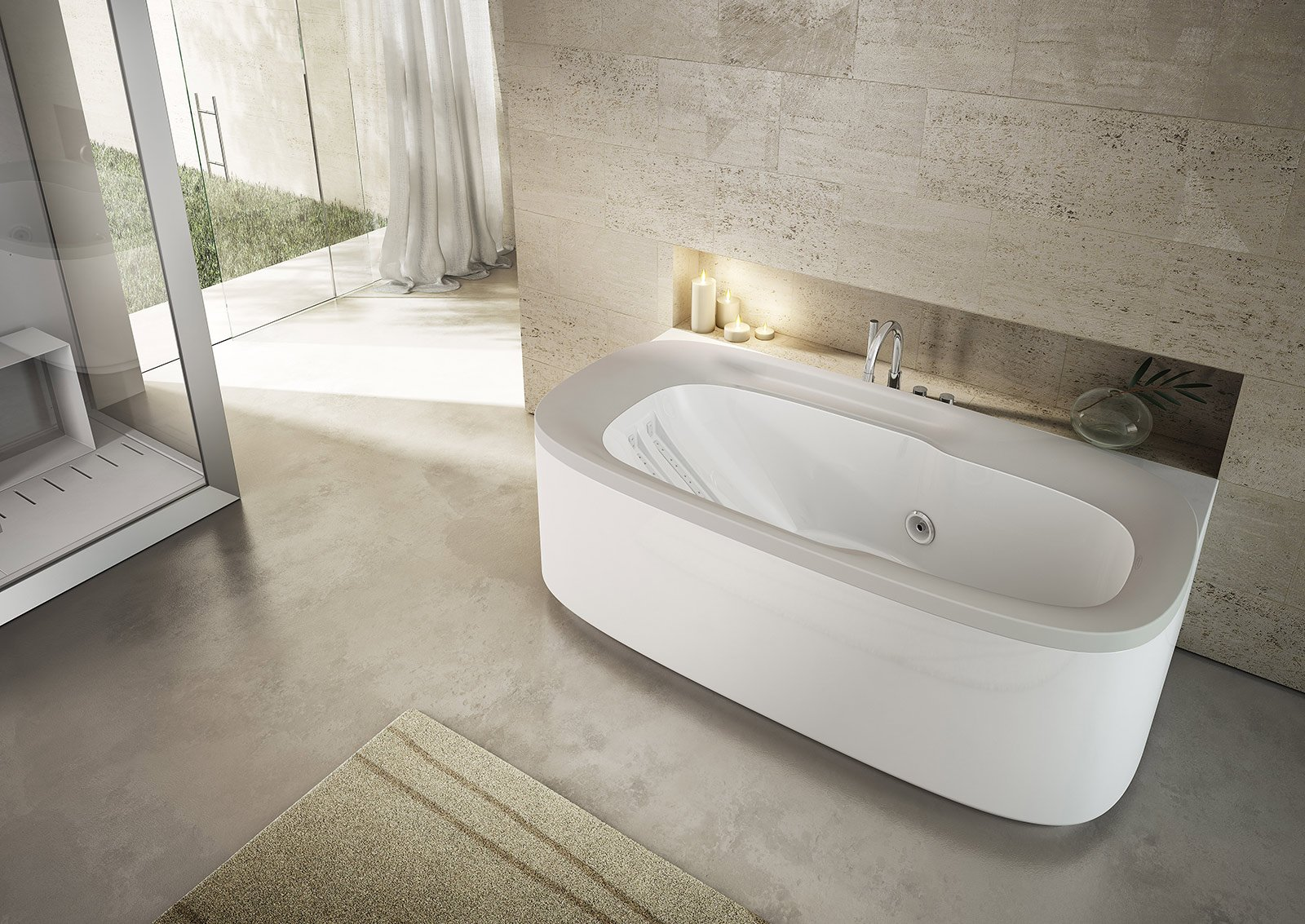 Vasche da bagno novit del cersaie 2013 cose di casa - Ricoprire vasca da bagno ...