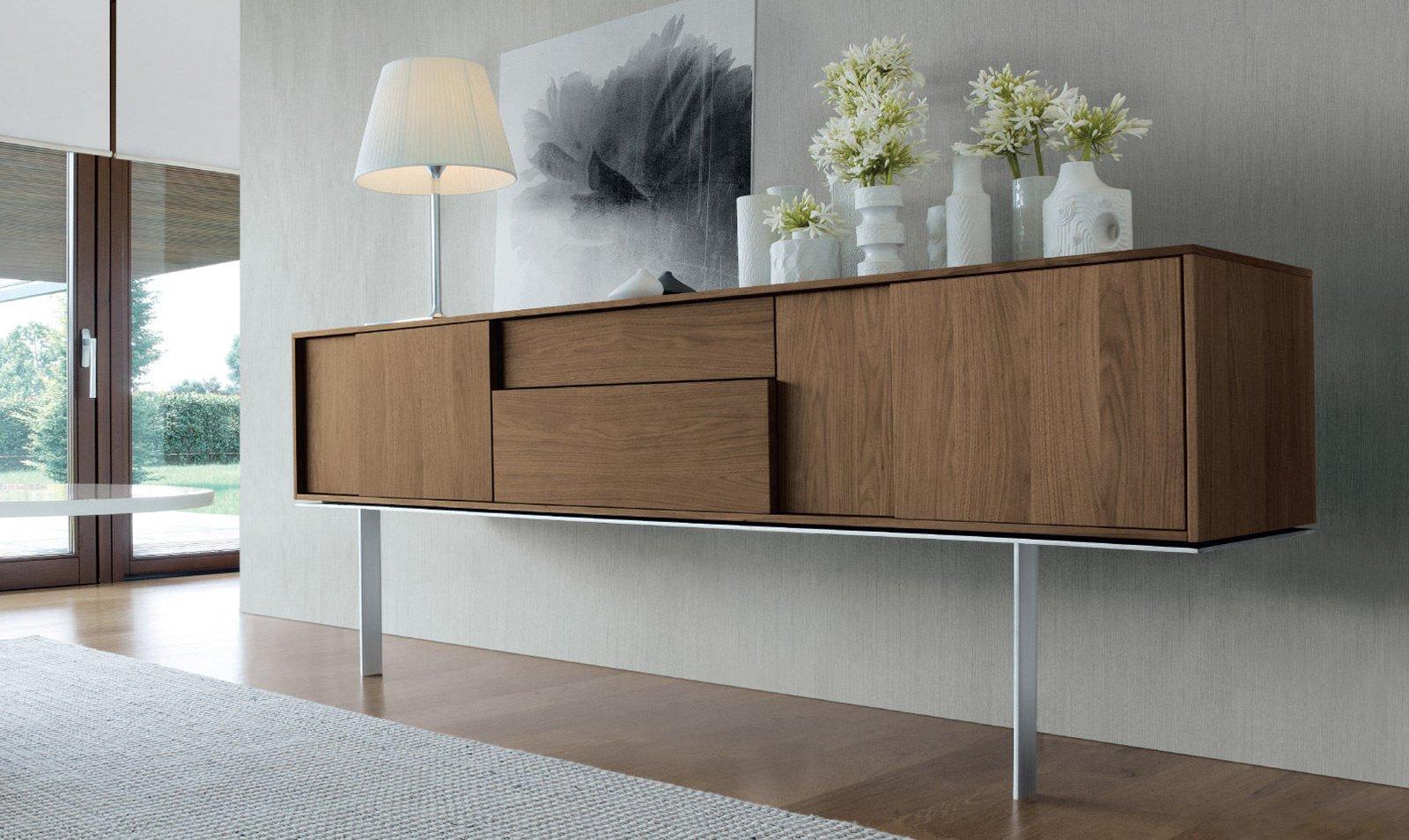 Credenza Moderna Noce Canaletto : Madie: mobili bassi per contenere cose di casa