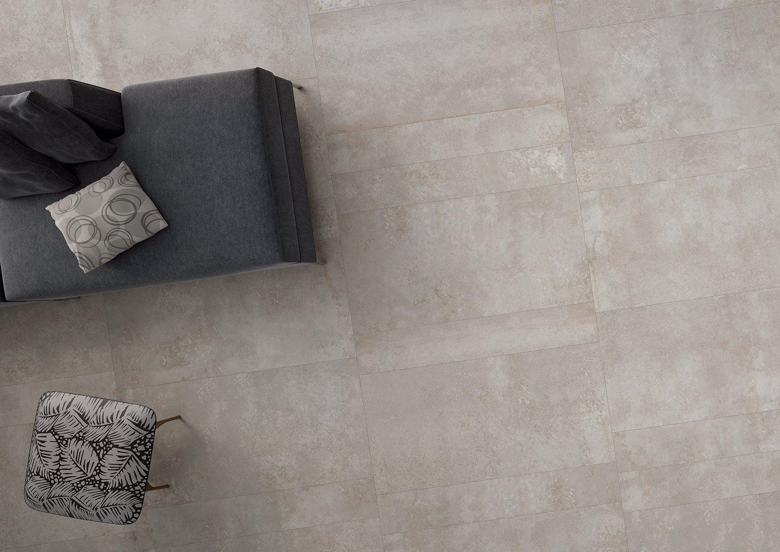 prezzi gres porcellanato 1 cm effetto cemento : ? realizzato in gres porcellanato rettificato il pavimento Edge di ...