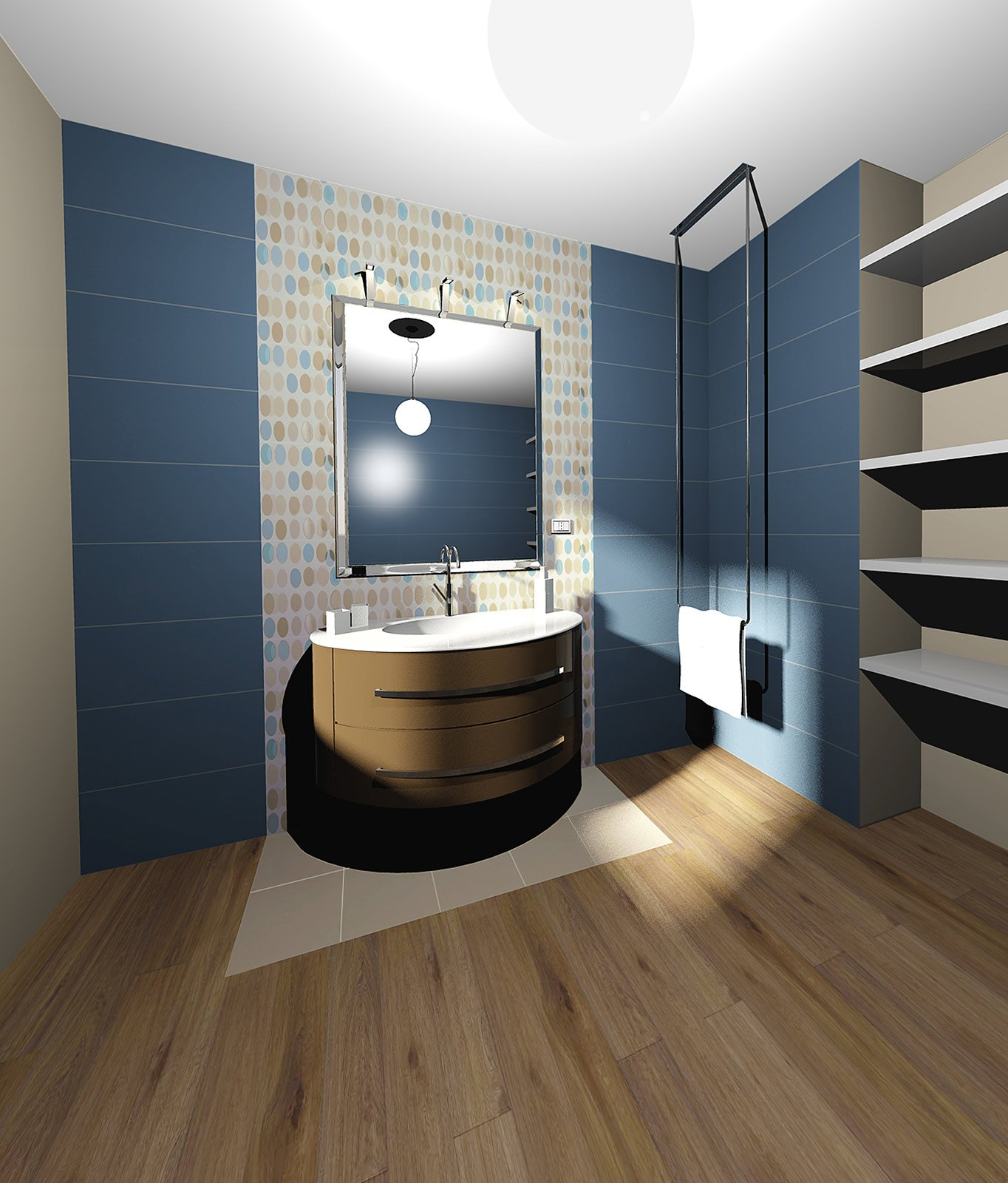 Scegliere i rivestimenti per pareti e pavimenti cose di casa - Parquet nel bagno ...