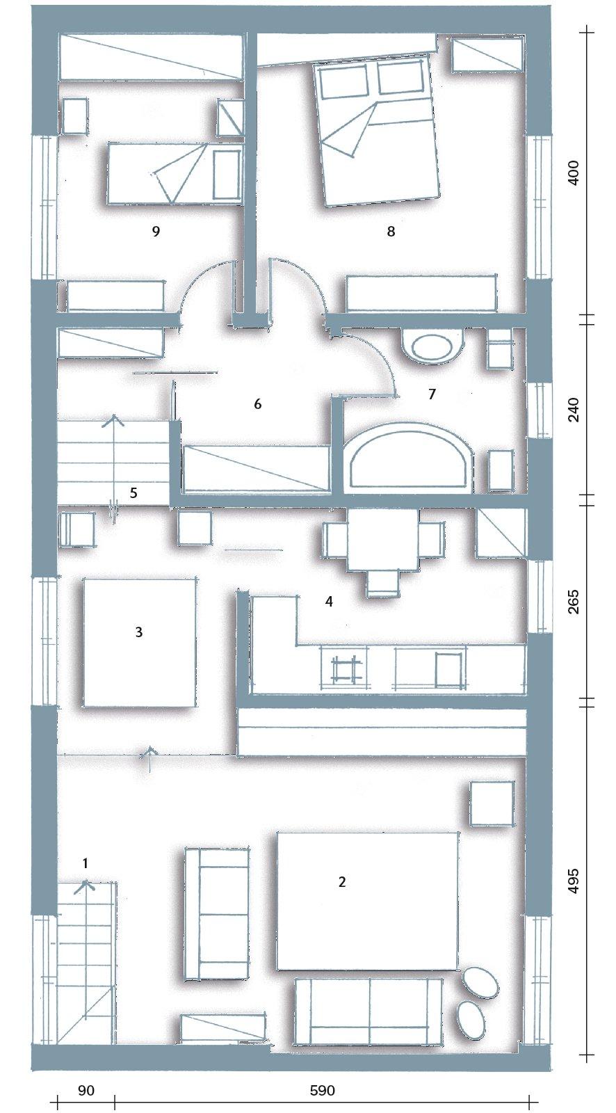 L 39 ex cascina diventa casa cose di casa for Planimetrie della casa quadrata
