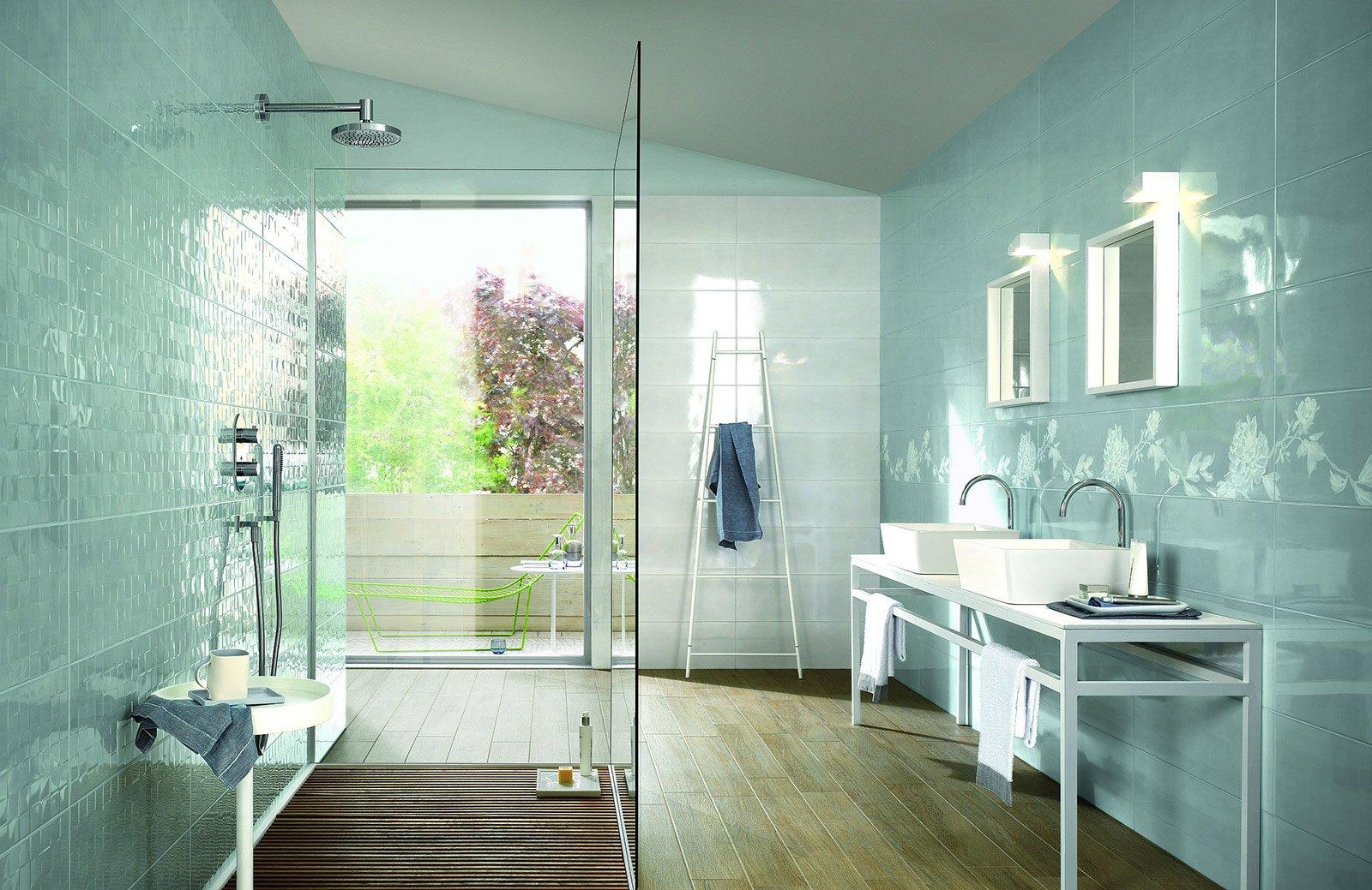 in monocottura in pasta bianca il rivestimento da parete per il bagno handmade di ragno