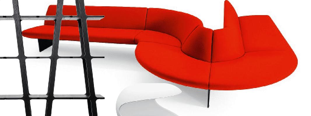 Soggiorno: design in nero, bianco e rosso - Cose di Casa