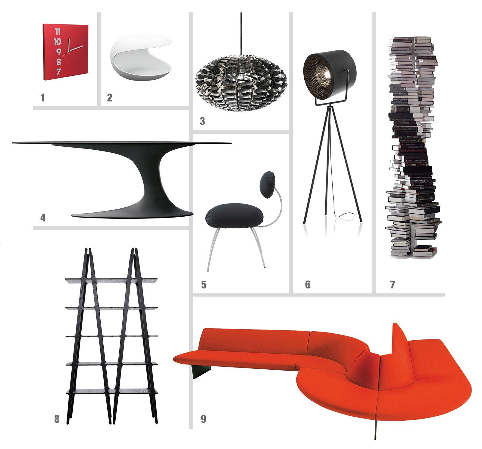 Soggiorno design in nero bianco e rosso cose di casa for Arredamento bianco nero e rosso
