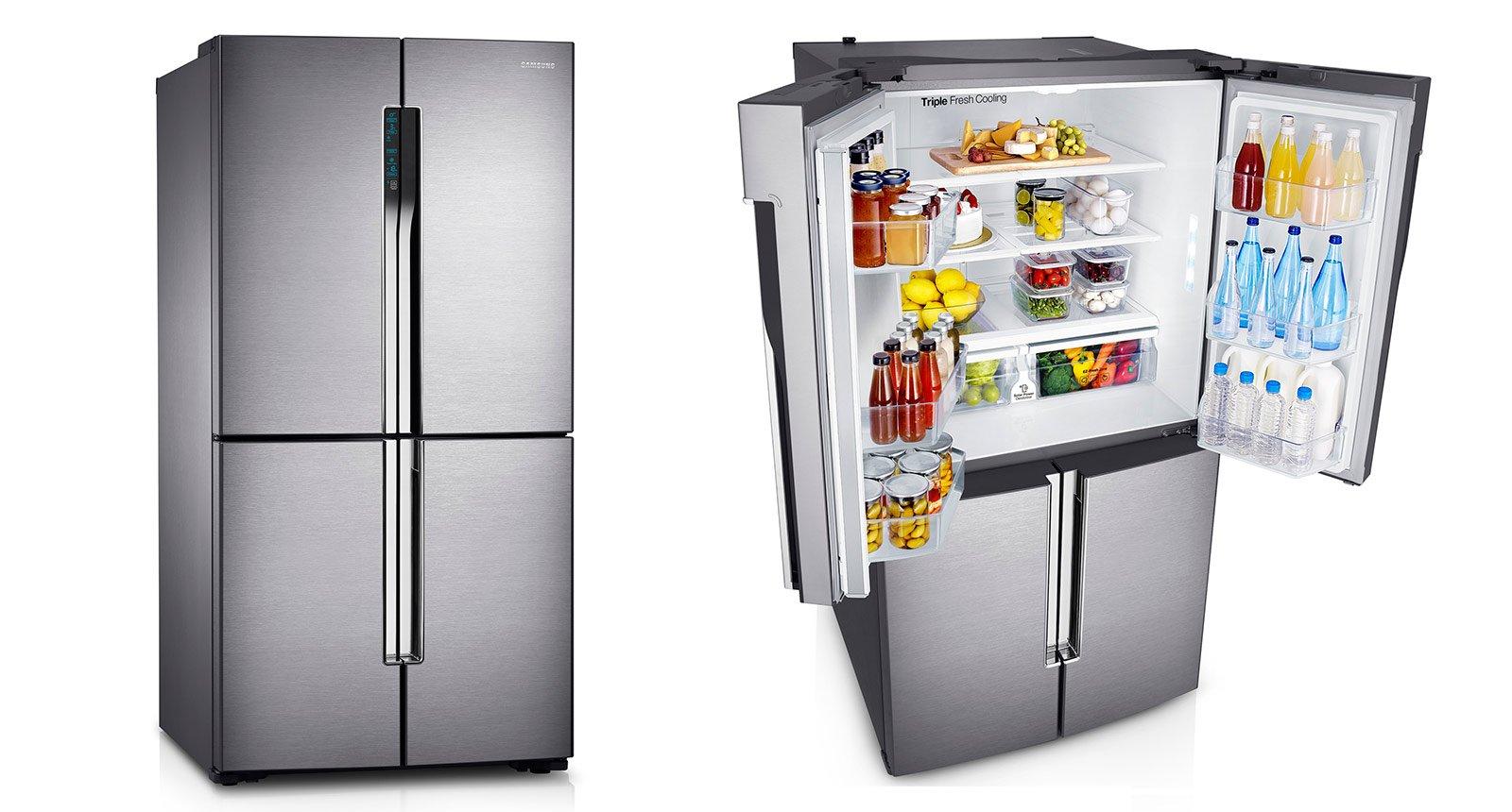 frigoriferi a 4 porte cose di casa. Black Bedroom Furniture Sets. Home Design Ideas
