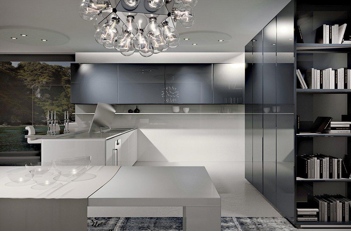 Cucine focus sui piani cose di casa - Top cucina in vetro ...