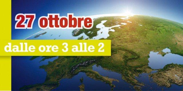 Ora solare 2013: torna il 27 ottobre il cambio d'orario. Indietro le lancette