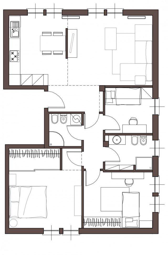 Da casa tradizionale ad abitazione moderna e attuale for Casa moderna progetti