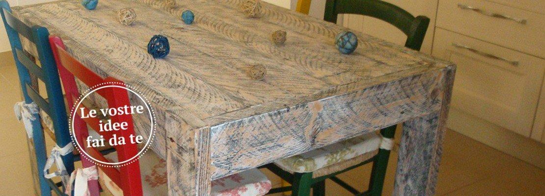 Un tavolo fatto di tavole cose di casa - Tavole da ponteggio usate ...