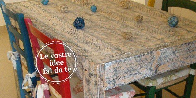 Un tavolo fatto di… tavole