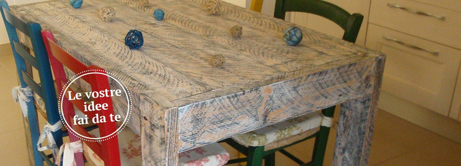 Un tavolo fatto di tavole cose di casa - Tavole da muratore usate ...