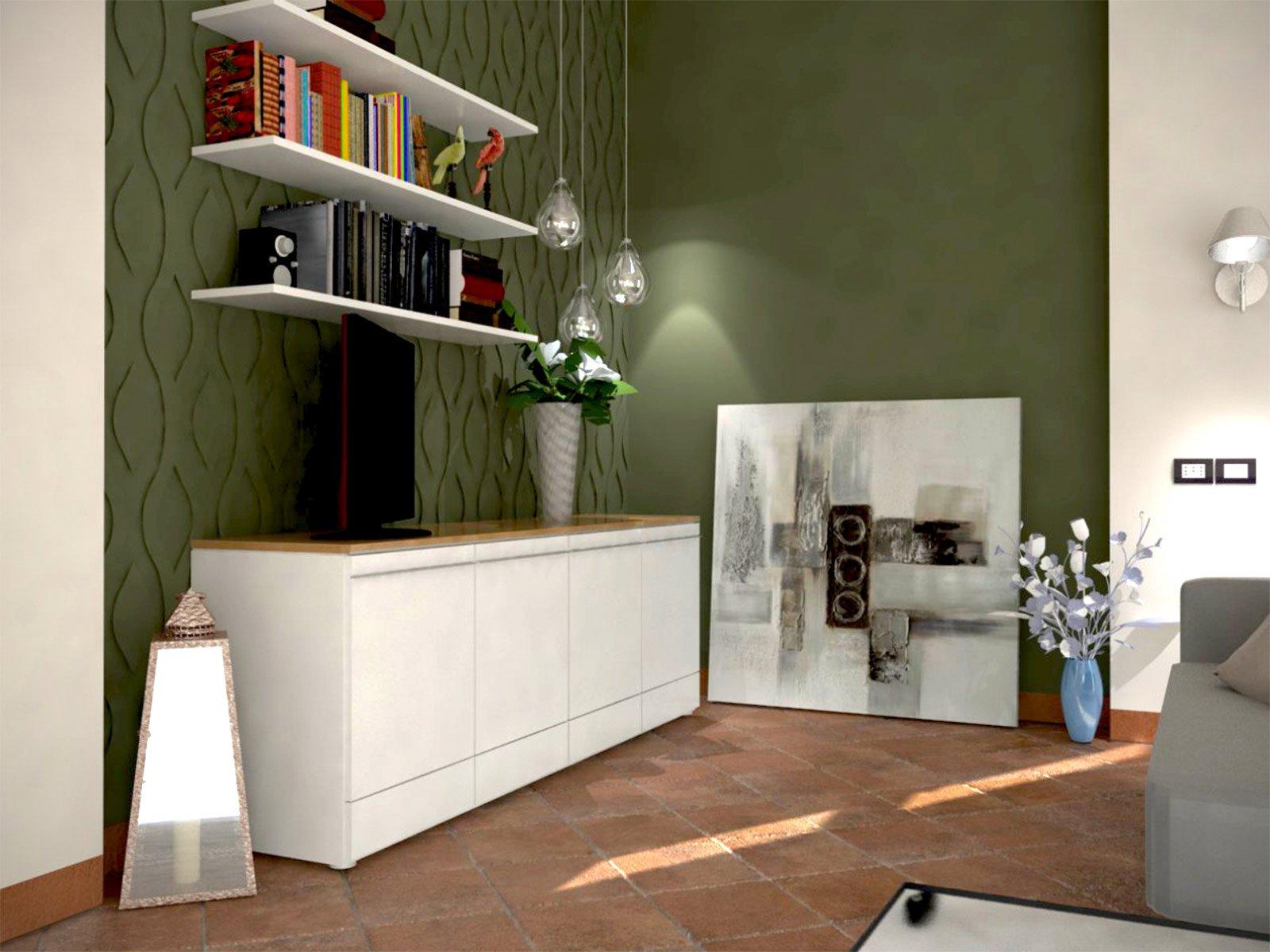 Pavimento in cotto e arredamento moderno cose di casa for Case con arredamento moderno