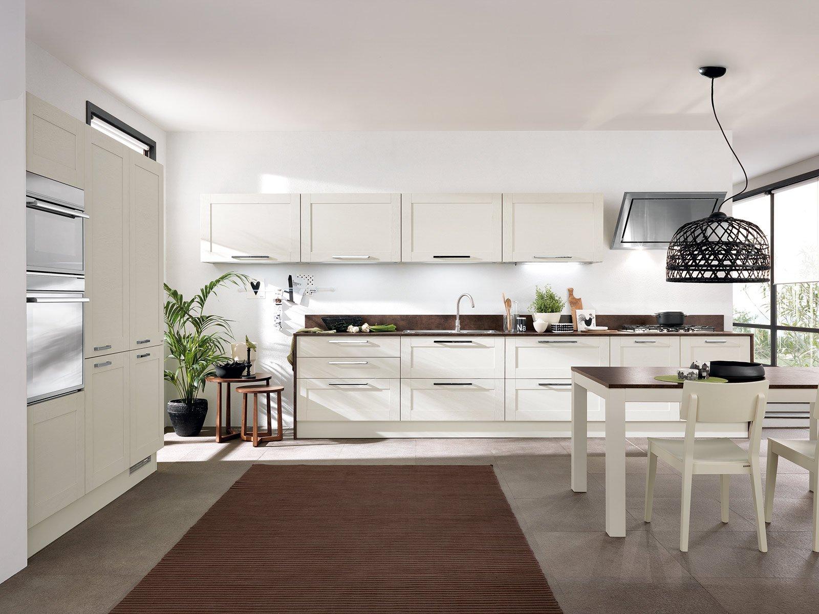 Carattere Green Per Open Di Scavolini Realizzata Con Struttura In  #4E5E2D 1600 1200 Immagini Di Cucine Muratura