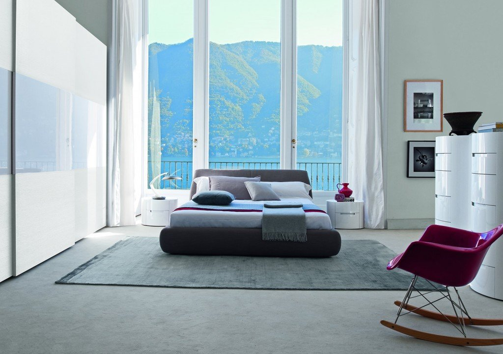 Camera da letto a tinte chiare cose di casa - Letto moderno design ...