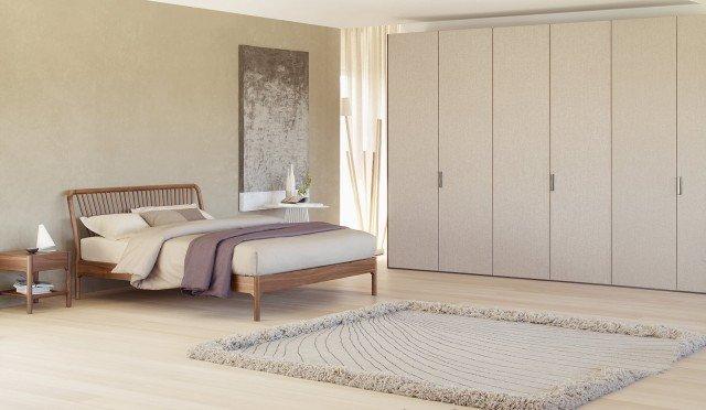 Camera da letto a tinte chiare cose di casa - Biancheria letto flou ...