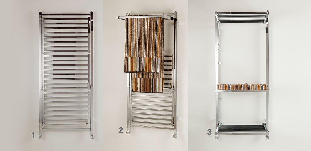 Scaldasalviette a ripiani cose di casa - Riscaldamento elettrico per bagno ...