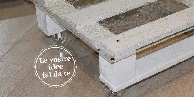 Tavolini in legno di riciclo su ruote cose di casa for Riciclo bancali legno