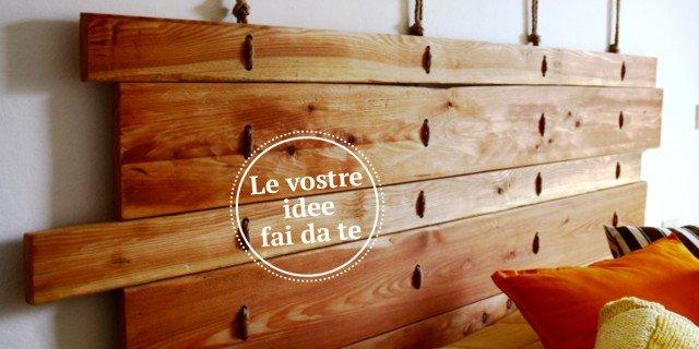 Letto low cost con la testiera fai da te cose di casa - Testiera letto fai da te in legno ...