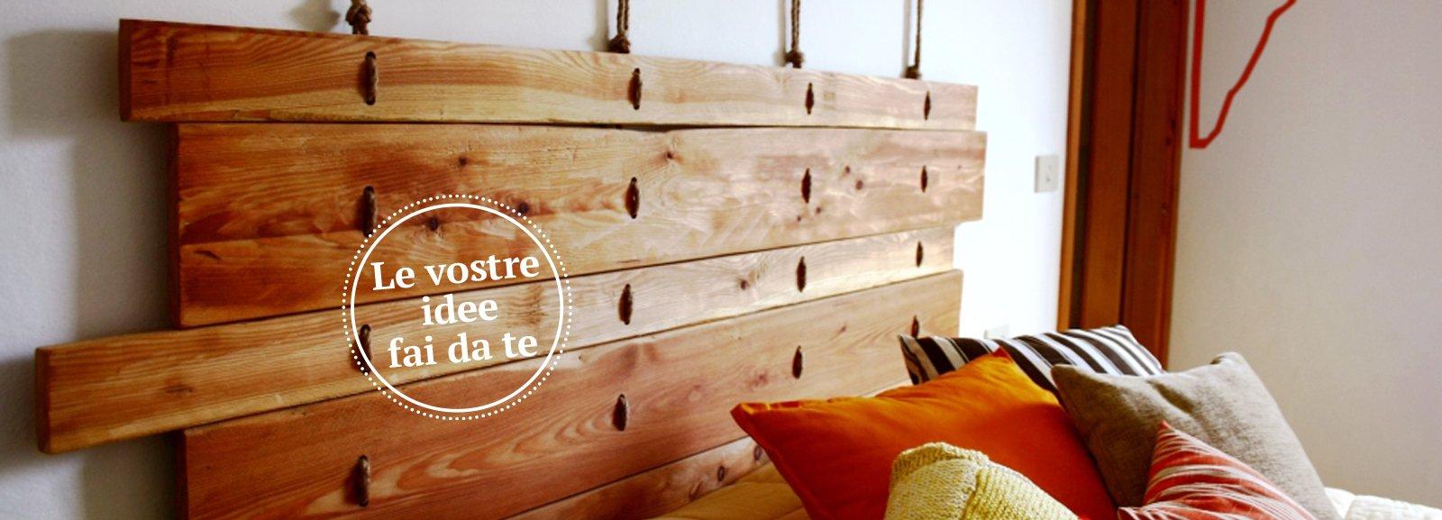 Letto low cost con la testiera fai da te cose di casa - Parete in legno fai da te ...