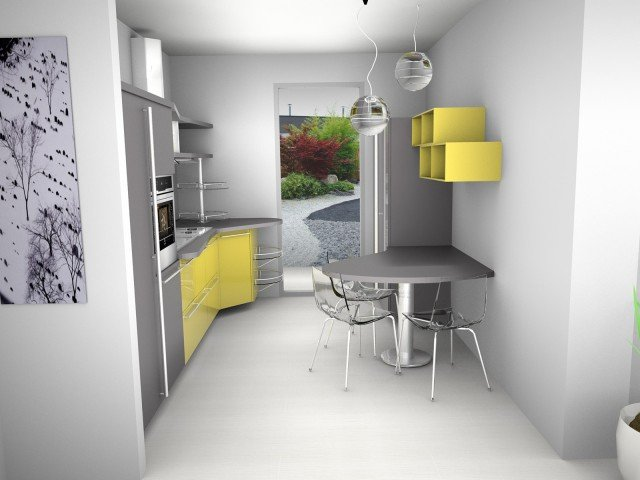 Progetto realizzato con la cucina Skyline 2.0 di Snaidero, design Lucci e Orlandini. Nel sito www.snaidero.it è attualmente disponibile il configuratore che permette a tutti di sbizzarrirsi nelle scelte dei materiali, colori e composizioni.