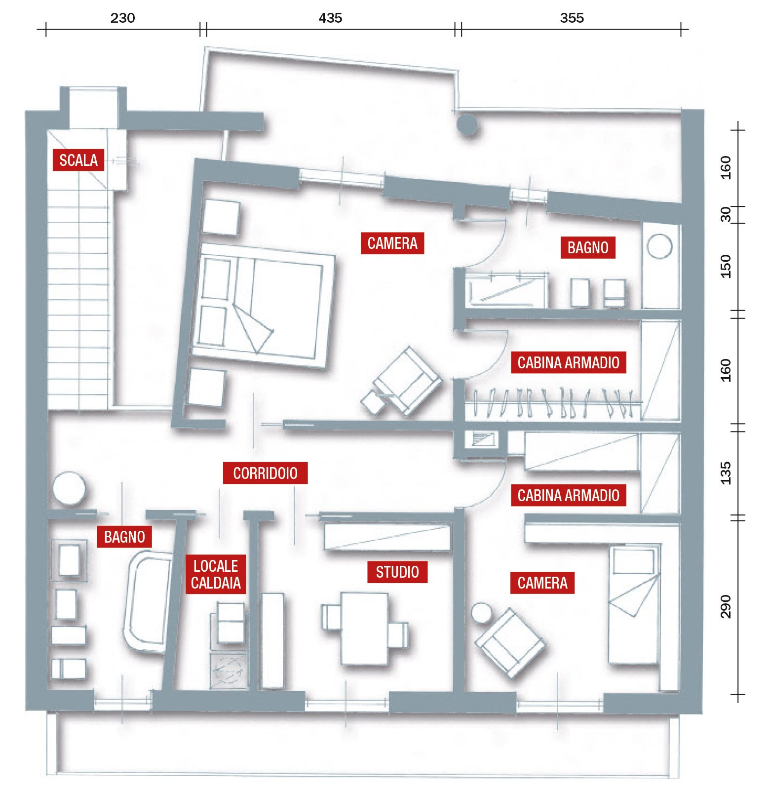 Una casa ristrutturata puntando sull 39 efficienza energetica for Piani di casa per case su due livelli