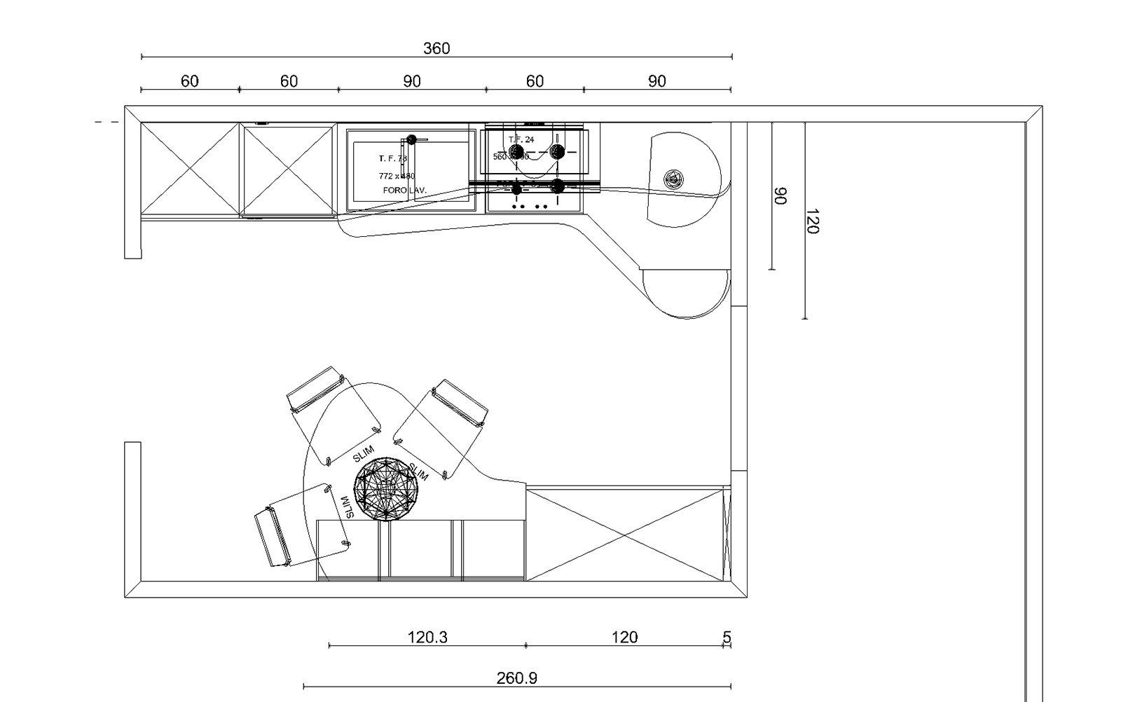 Disegno cucina angolare xf39 pineglen for Programma per comporre cucine