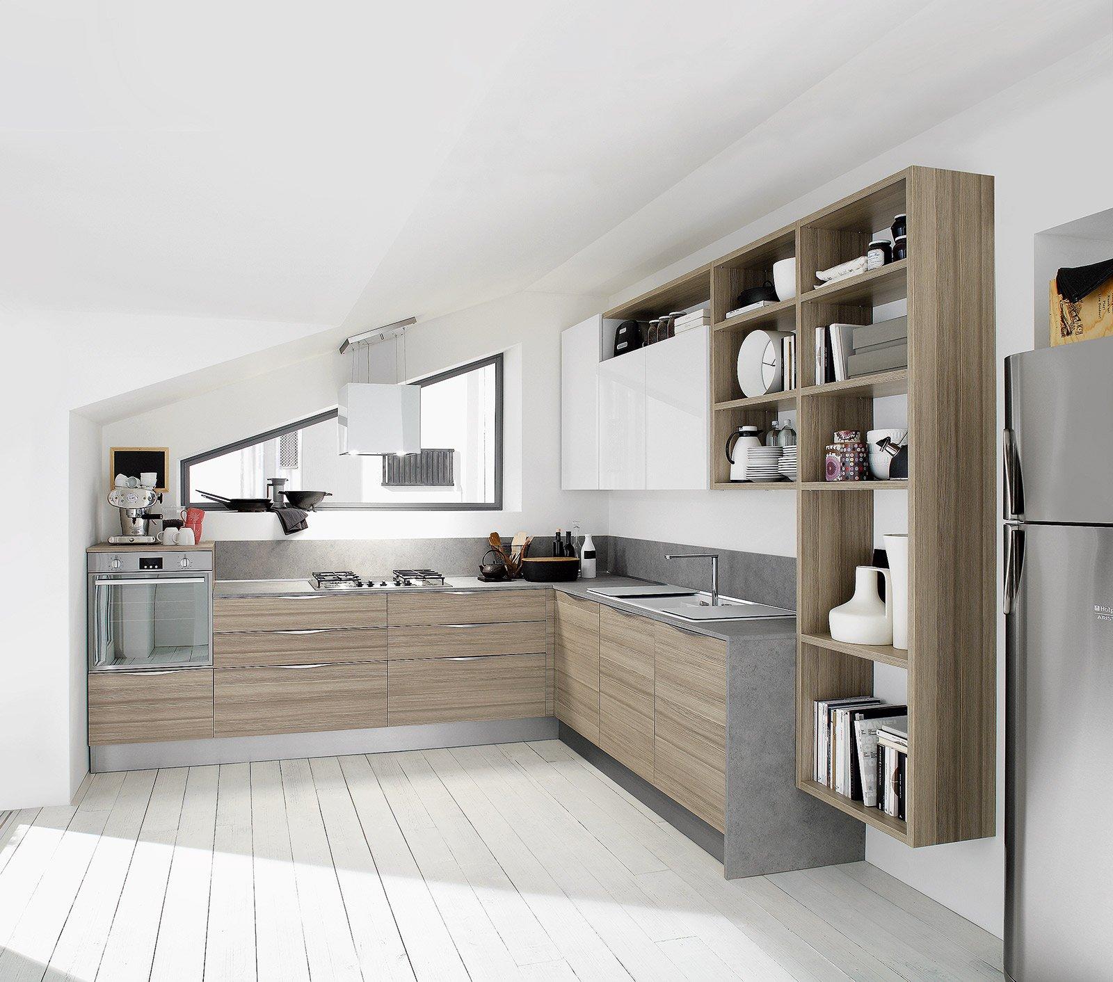Tavoli Da Cucina A Muro Ribaltabili. Trendy La Cucina Ad Angolo ...
