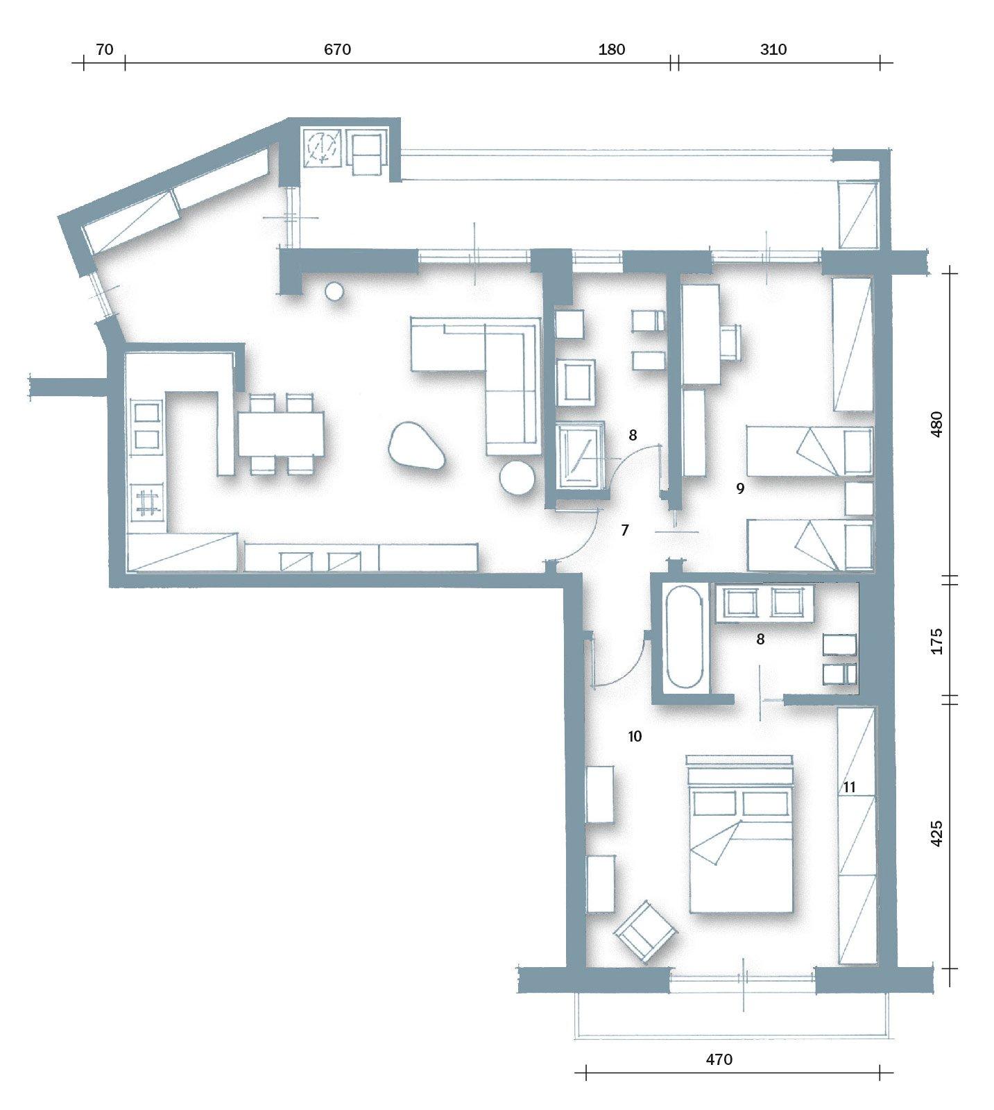 85 mq una casa per una famiglia giovane cose di casa for Grandi planimetrie per le case