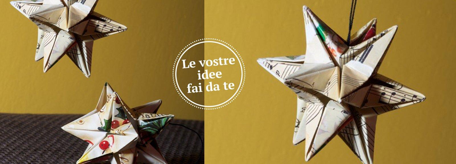 Origami stelle di carta per decorare il tuo natale cose for Architetto fai da te