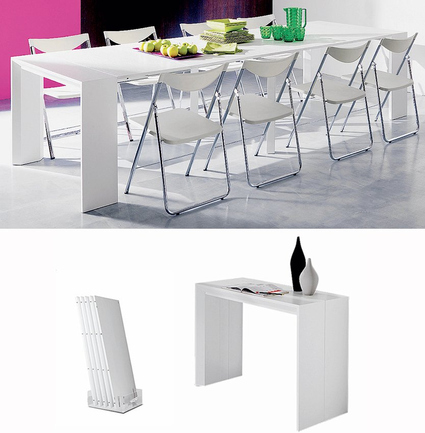 Cucina piccola che tavolo scelgo cose di casa for Consolle allungabile laccata bianca