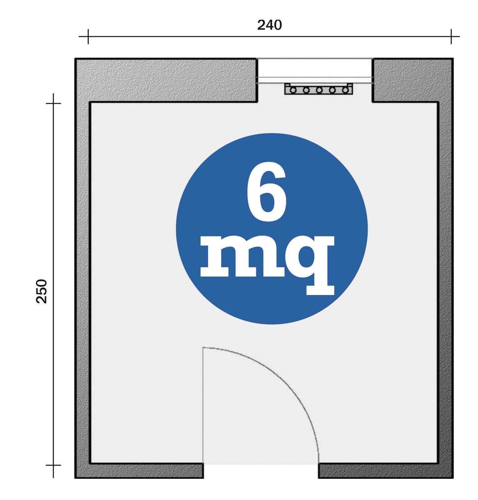 Bagno con pianta del progetto e costi dei lavori prima soluzione cose di casa - Termoarredo per bagno 6 mq ...
