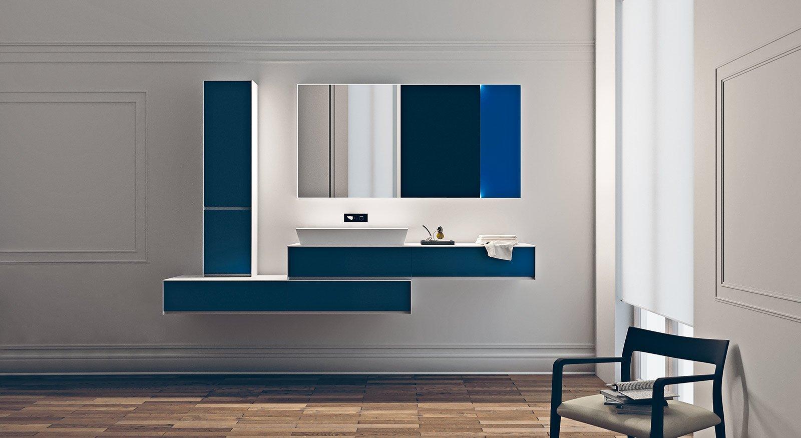 Bagno blu un classico reso attuale cose di casa - Mobili bagno blu ...