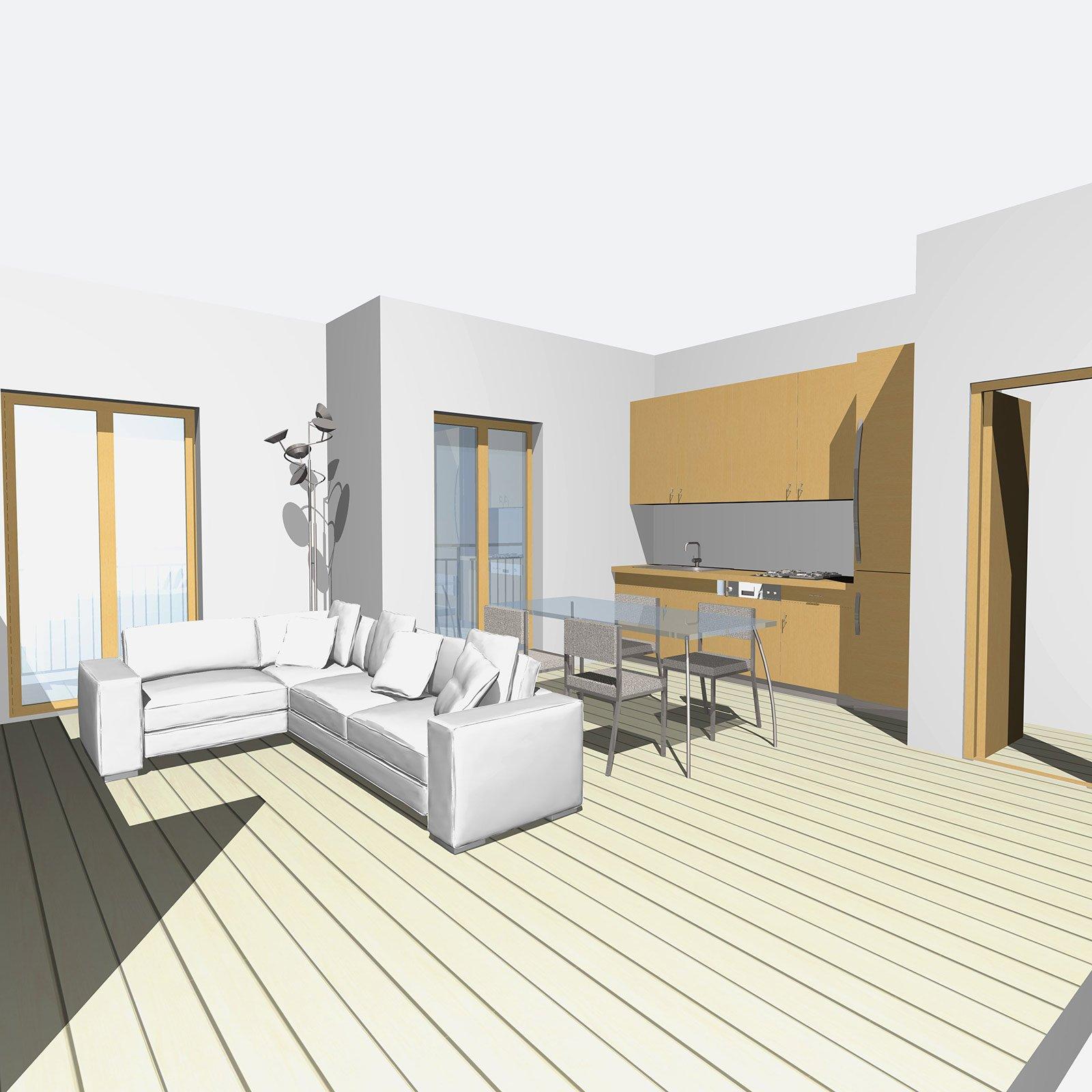 Casabook immobiliare zona giorno open space e bagno pi for Progetto zona giorno